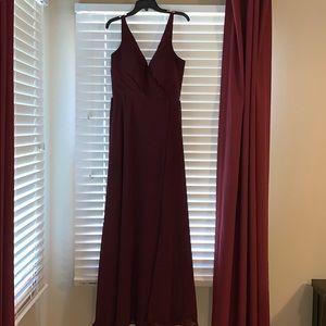 Mori Lee Bordeaux dress